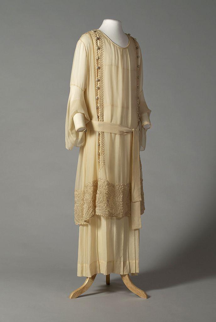 American wedding dress, 1918 Chanel, Jeanne Lanvin, Lingerie Gown, Tea Gown, f588e9ec7d66