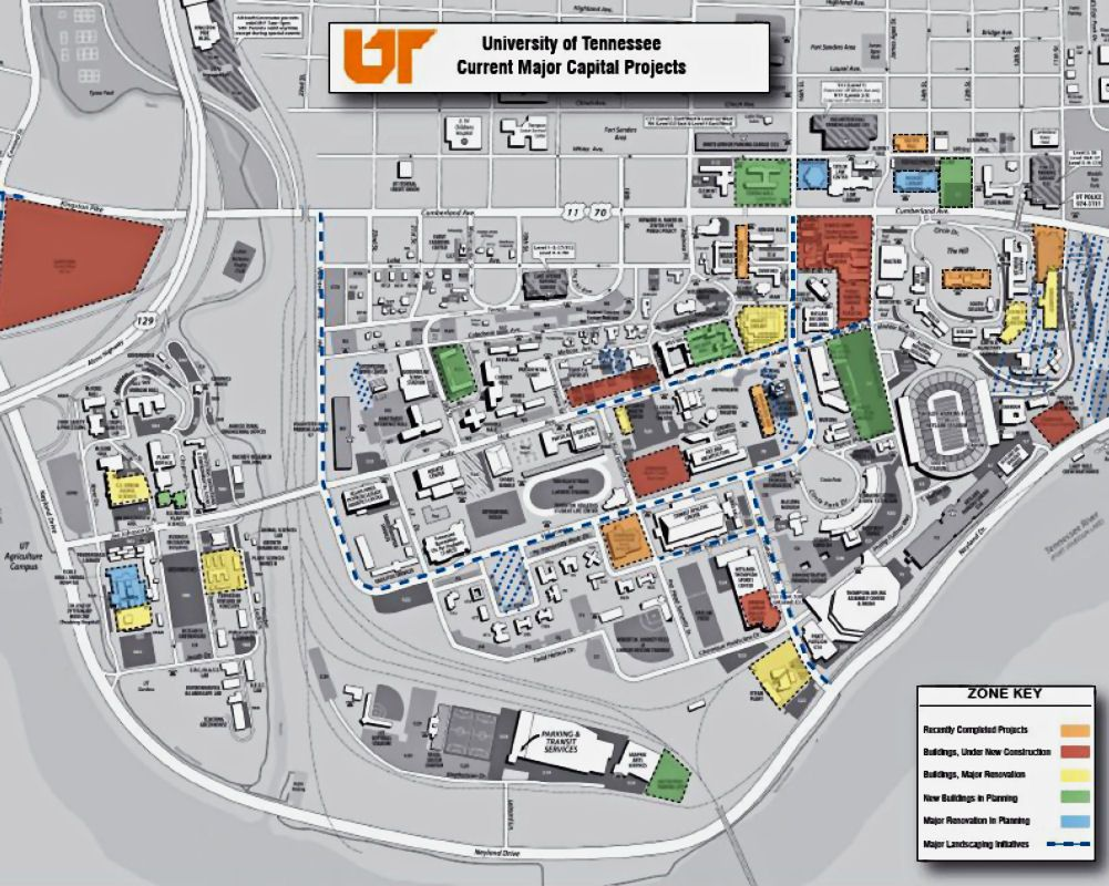 knoxville architecture map The University of Tennessee Knoxville