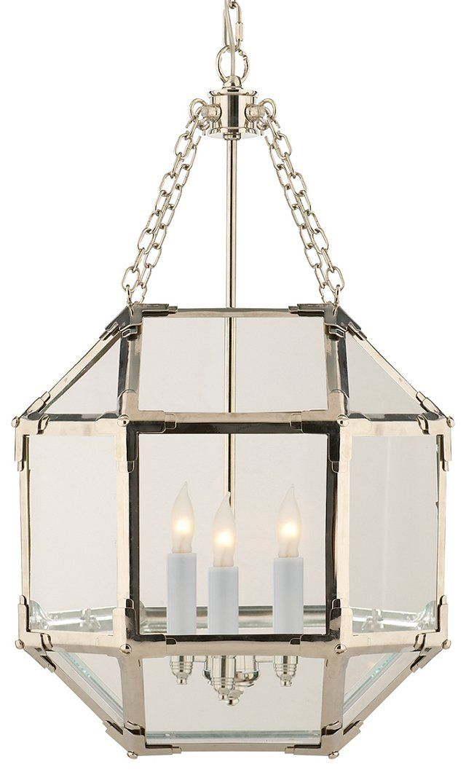 Morris Small Lantern Polished Nickel 525 00 Small Lanterns Visual Comfort Visual Comfort