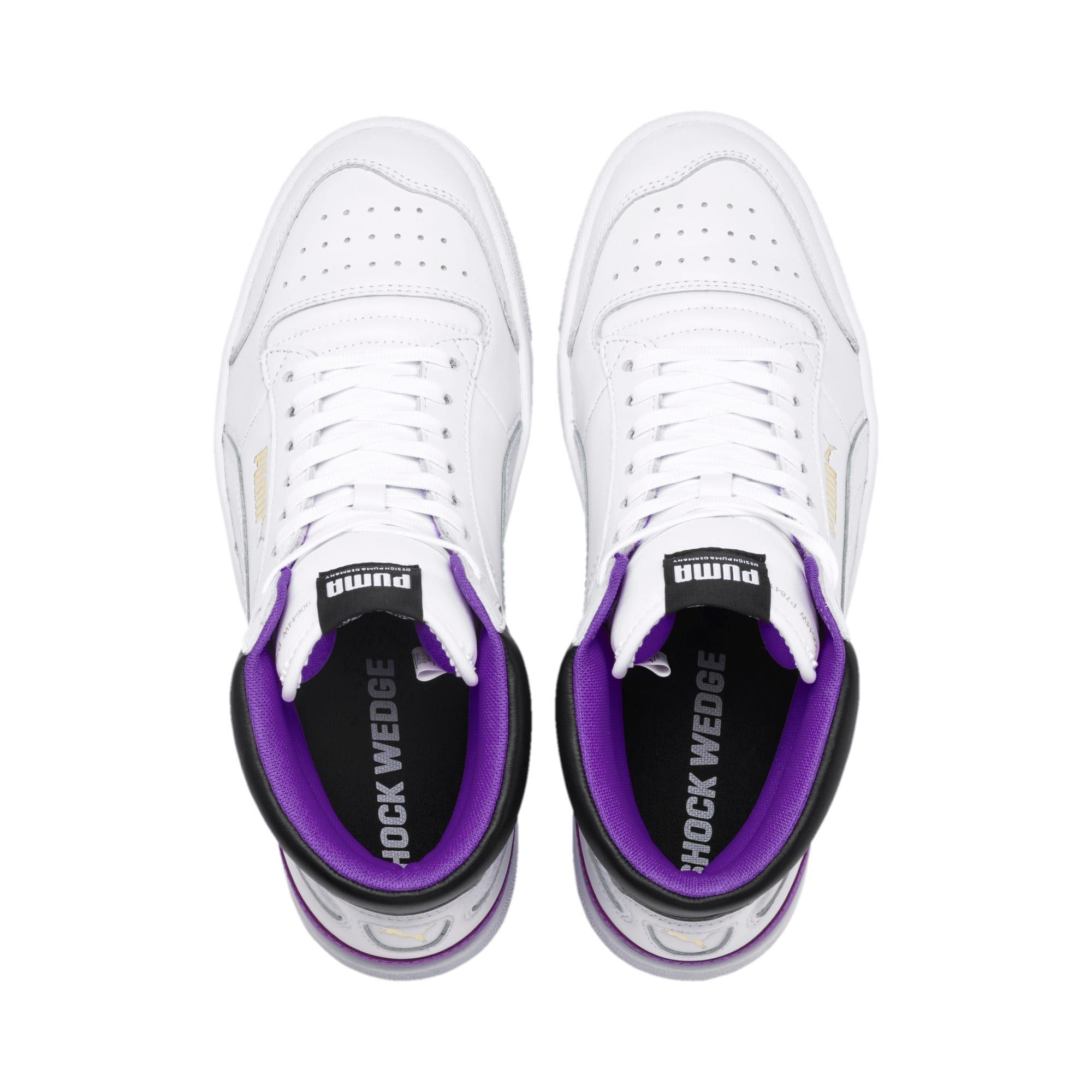 Photo of Ralph Sampson Mid Zapatillas deportivas | PWhite-PWhite-Purple Glimmer | PUMA Destacado | PUMA Reino Unido
