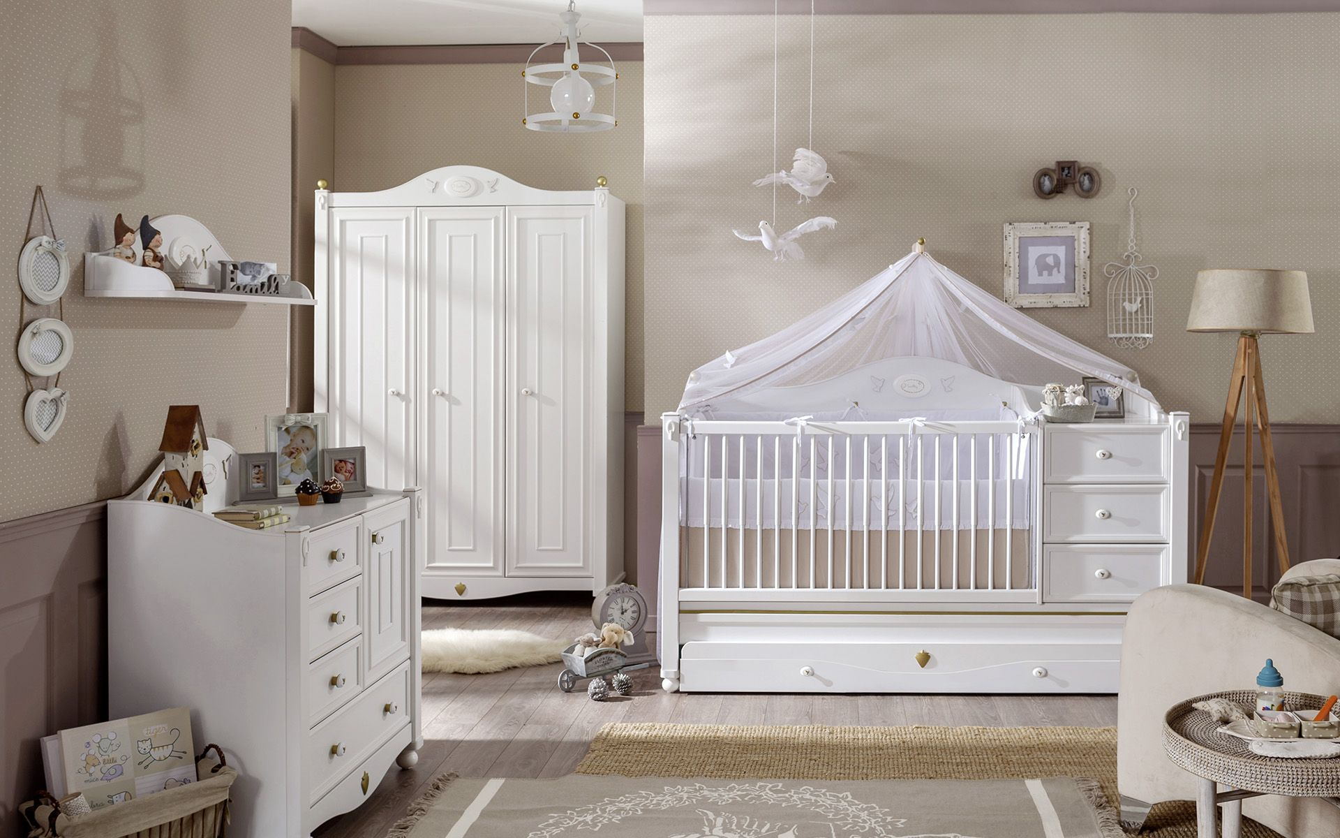 Deco Chambre Bebe Fille décoration chambre bébé fille: 99 idées, photos et astuces