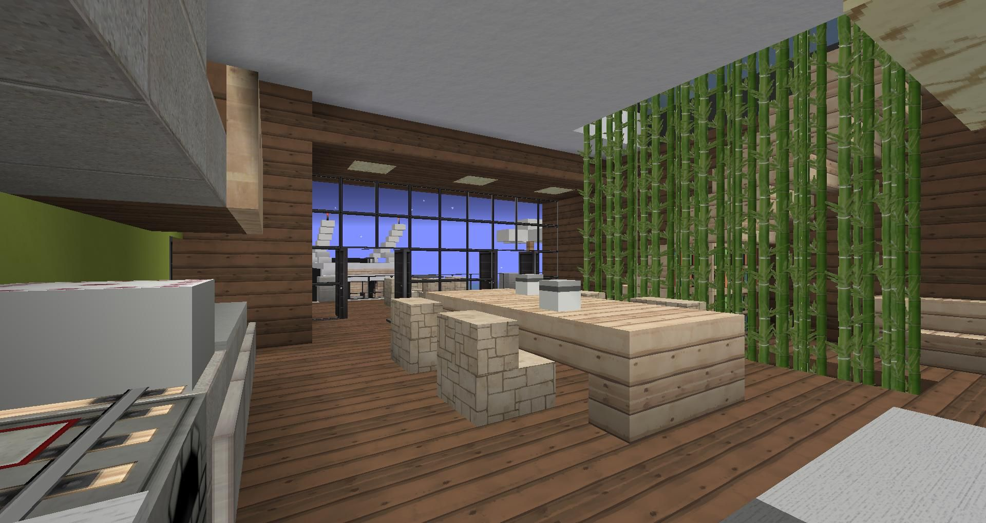 Love the sugarcane divider Minecraft Pinterest