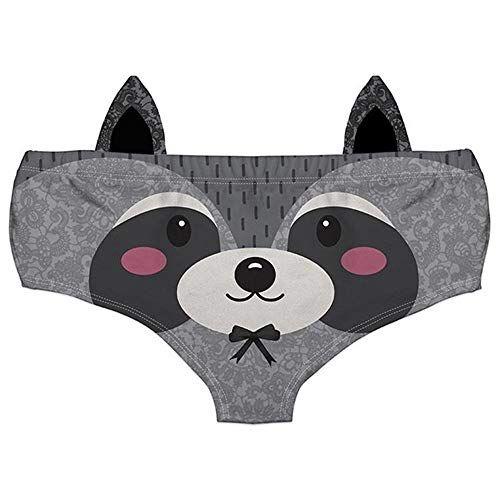 a91c6b7bd918 Women Fashion Underwear Funny Naughty 3D Printed Cute Animal Knickers Briefs  with Ear,#Funny, #Naughty, #Underwear, #Women