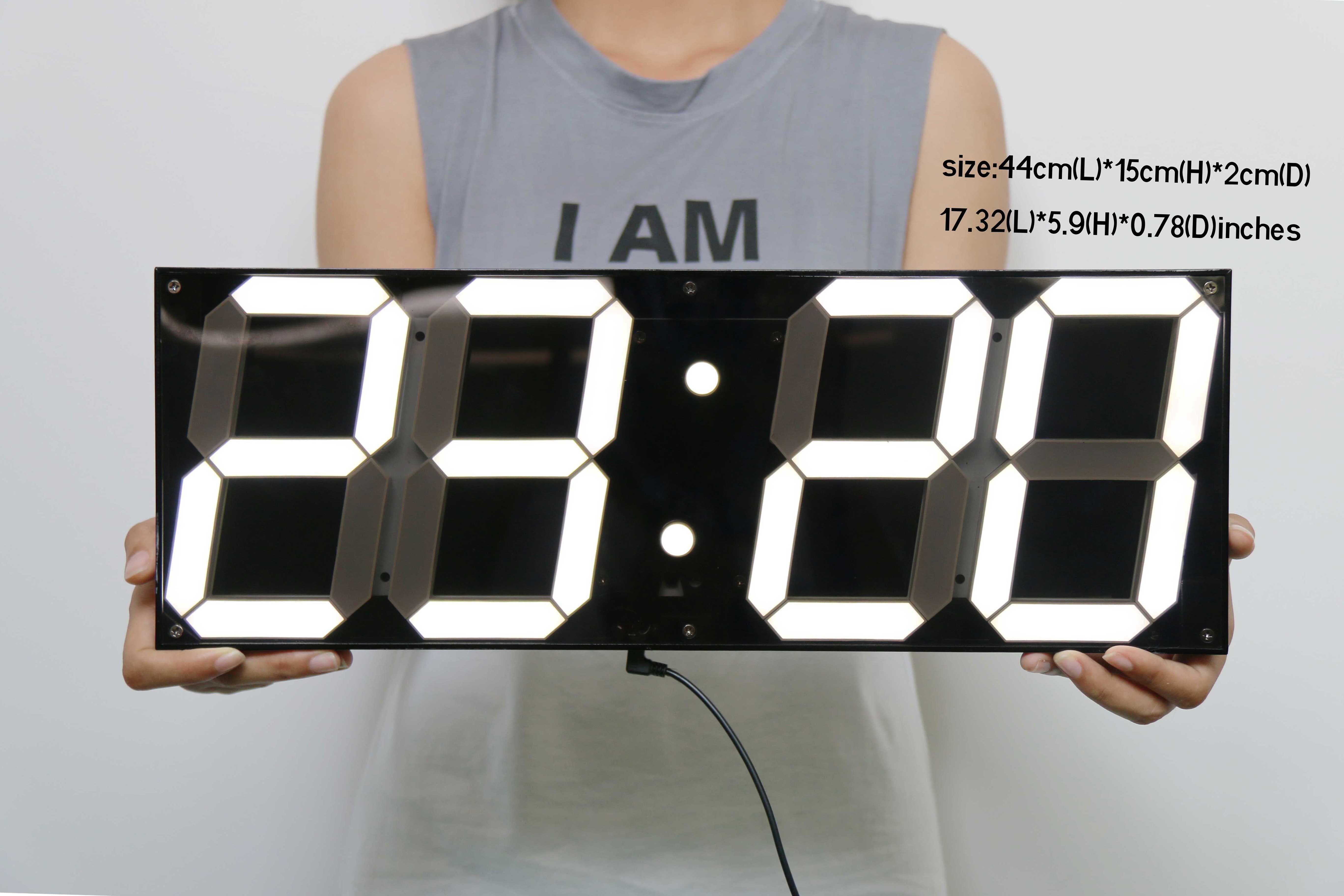 Indoor Jumbo Led Clock A Real Big Digital Clock Clock Wall Clock Simple Led Wall Clock