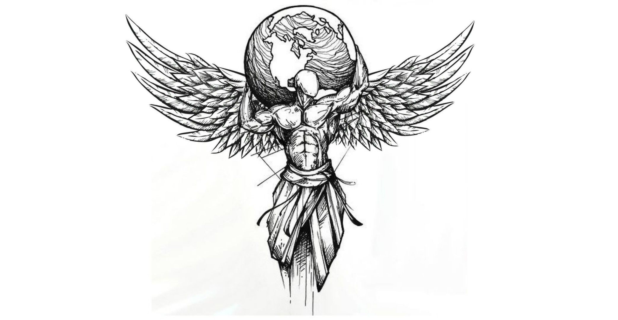 Tattoo With Wings Wings Tattoo Sketch Style Tattoos Wing Tattoo