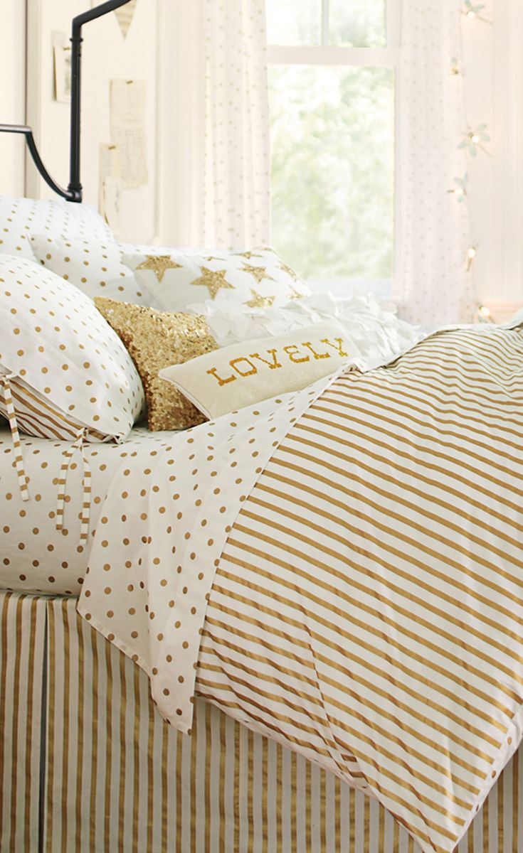patterned bedding and silver duvet stripe covers cover set metallic marble pillowcase