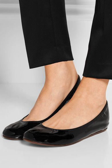 Lanvin - Patent-leather Ballet Flats - Black - IT36.5