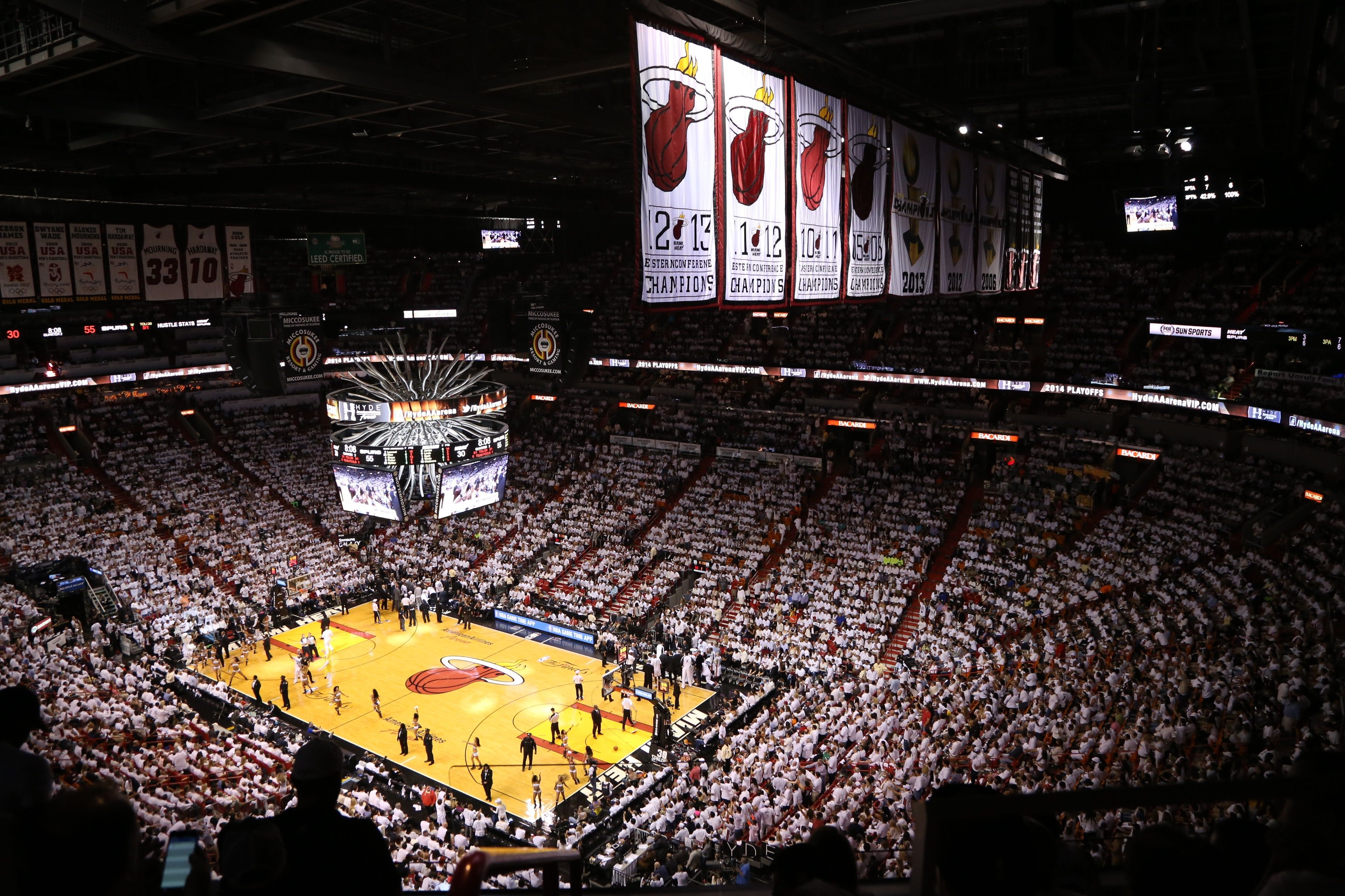 American Airlines Arena Install Eaton Ephesus Sports LED