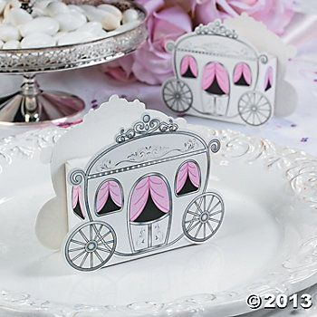 Carriage Treat Boxes, Paper Goody Bags U0026 Boxes, Party Favor U0026 Goody Bags,.  Princess CarriageBaby Shower ...