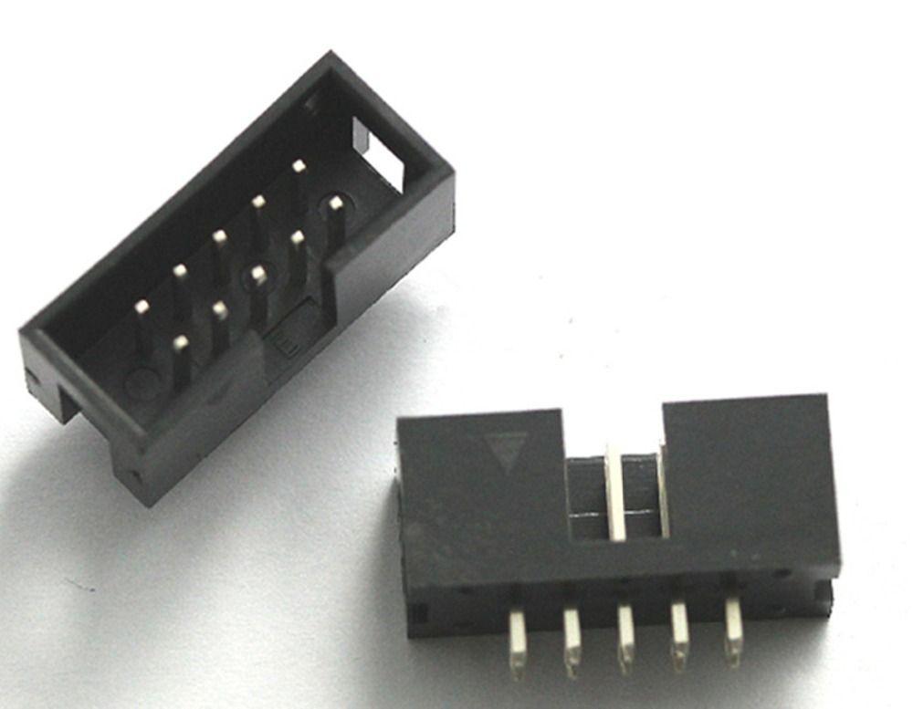 20PCS Pitch 2.54mm 2x5Pin DC3 10 Pin Straight Male Shrouded PCB IDC Socket Box Header  EUR 3.36  Meer informatie  http://bit.ly/2lFmUzT #aliexpress