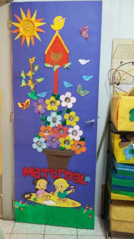 Porta de sala de aula decoraci n puerta pinterest de for Puertas decoradas primavera