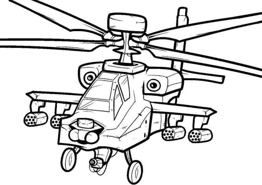 Hubschrauber Bilder zum Ausdrucken | Ausmalbilder Hubschrauber