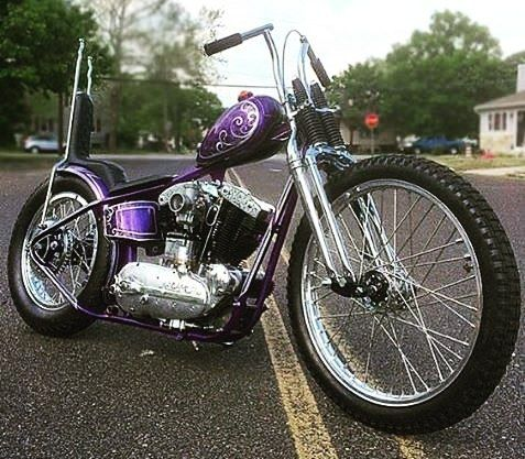 Ironhead sportster hardtail custom with 23
