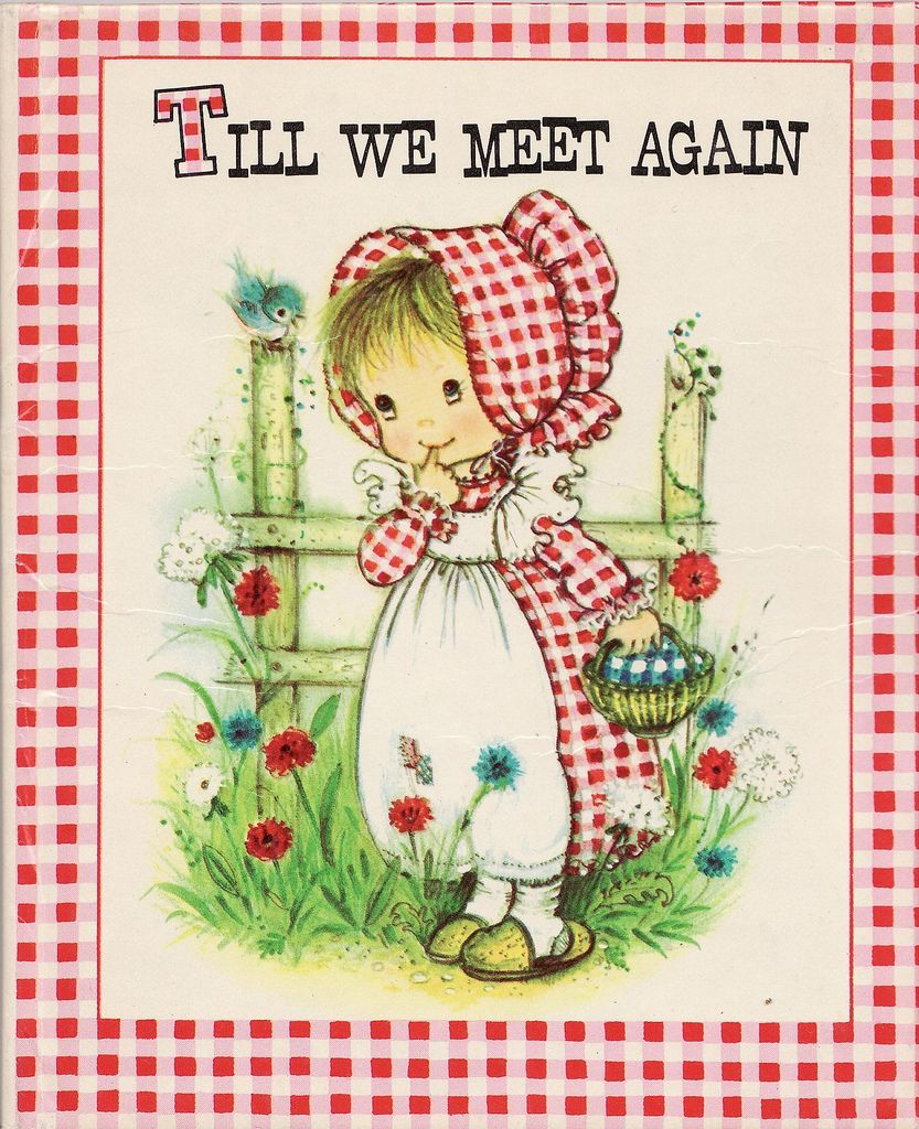 Scan of a vintage address book with a sweet-faced bonneted girl, a Holly Hobbie knock-off from the early 1970s.