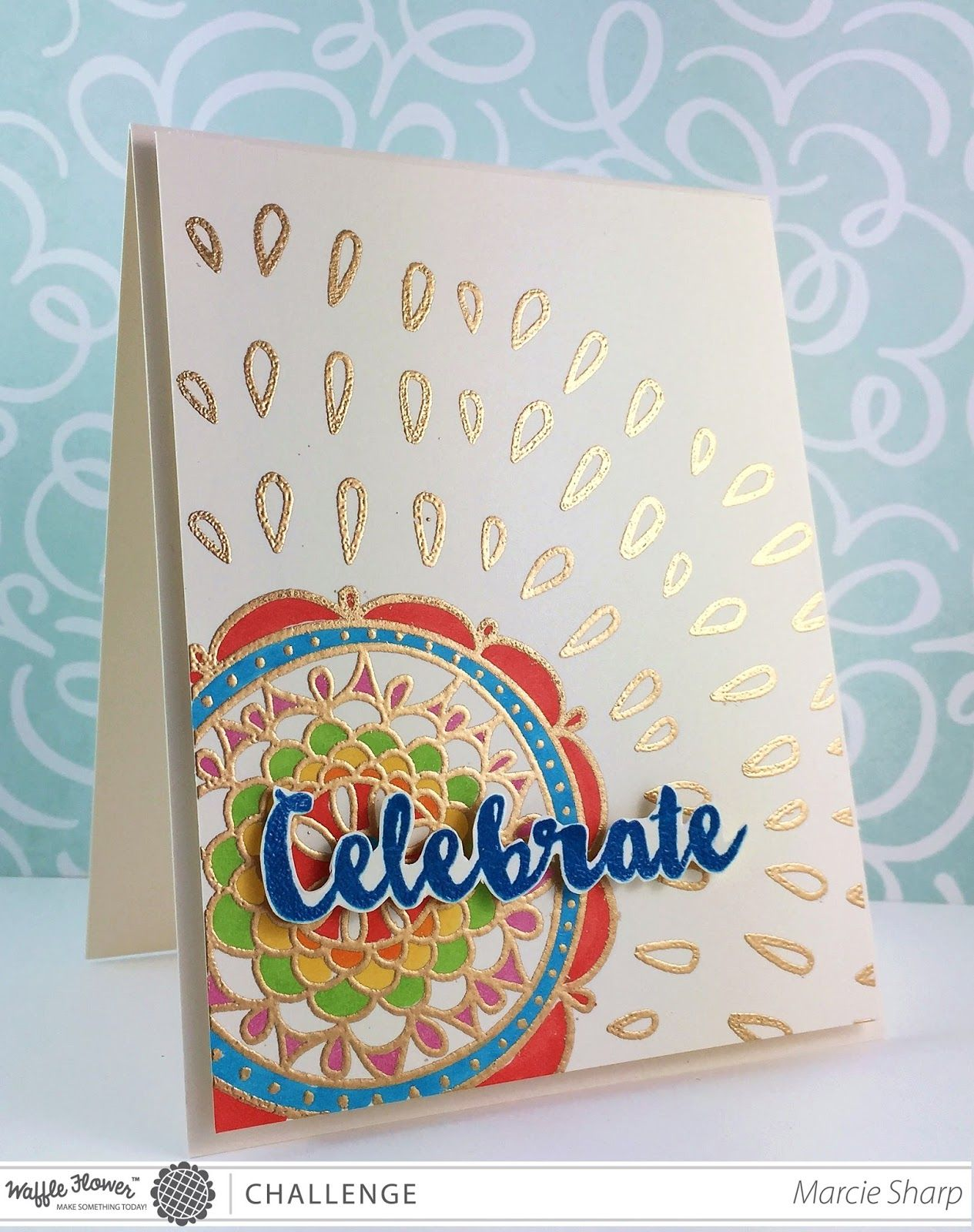 Sharp Designs Waffle Flower Challenge Diwali Cards Diwali Greeting Cards Scrapbook Flowers