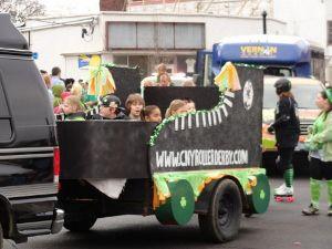 Roller Skate shaped float in NY parade
