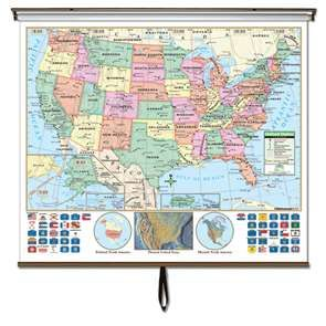 This is one of the most essential maps for classroom and business use. The United States Classroom wall map features updated, full-color cartography with political boundaries, capitals, major cities and more. #geography #teaching #classroommaps #classroomglobes