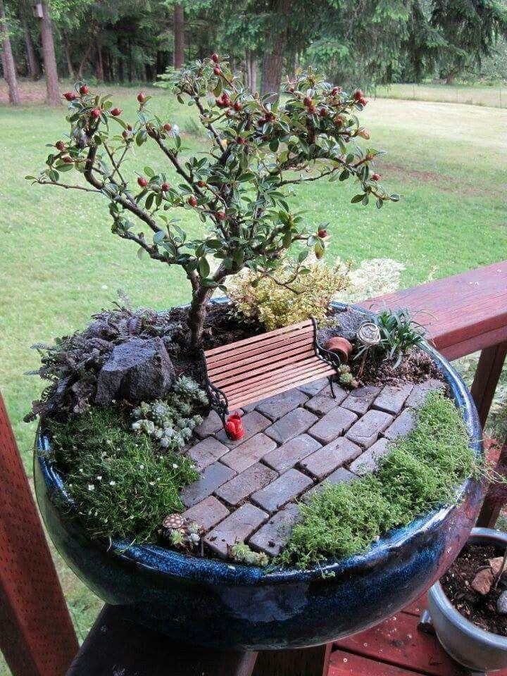 Garten deko tontopf Pinterest Gärten, Feengarten und Gartendeko - gartendeko selbst basteln