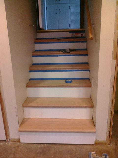 StairTek From Home Depot Covers Existing Plywood Stairs Easily.