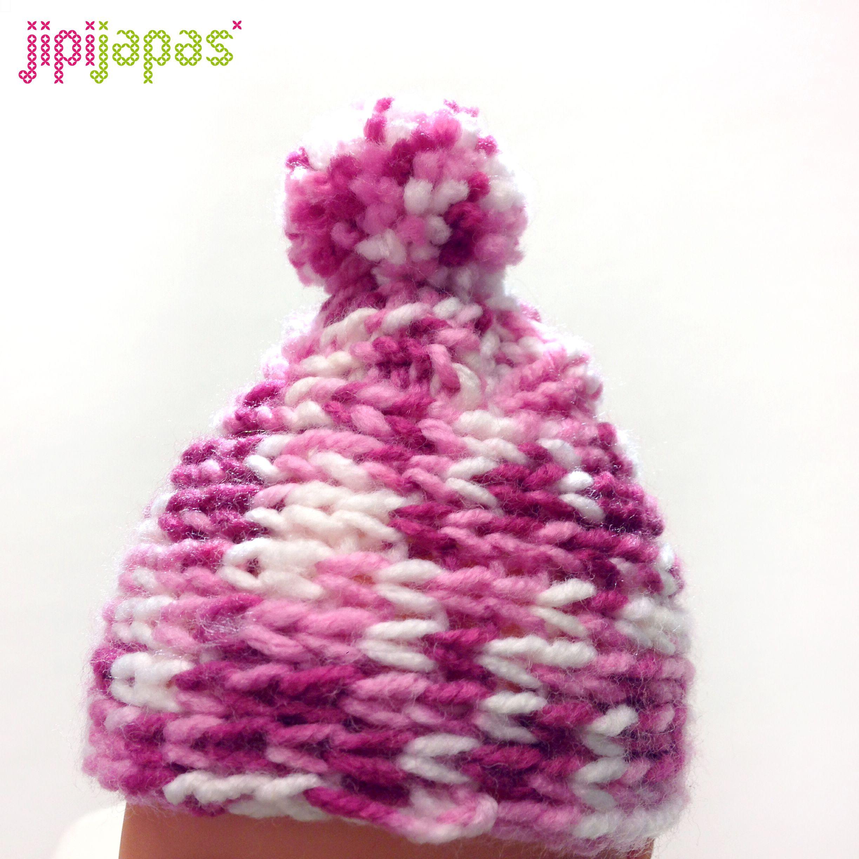 Gorro en lana tricolor para bebé