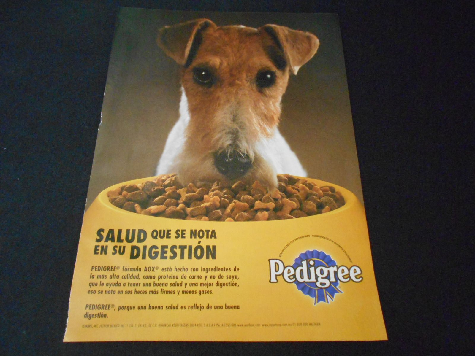Pedigree Dog Food Ad 2004 Jack Parson Russell Fox Terrier