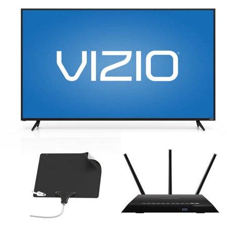 Vizio 60 inch 1080p Smart Hdtv, Netgear Wifi Router, Mohu
