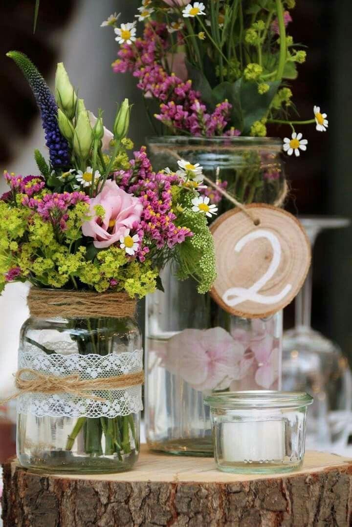 Tischdekoration Vintage Hochzeit auf Land Gut Hhne