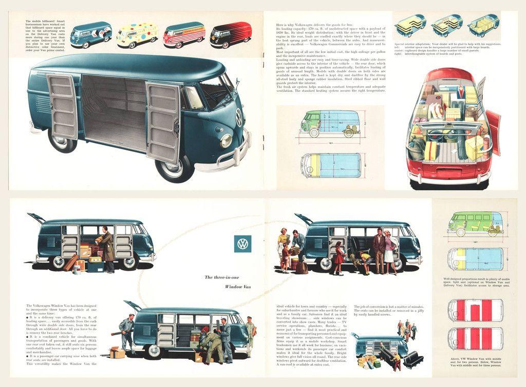 1959 Volkswagen Type 2 Bus Brochure Volkswagen Volkswagen Type 2 Vintage Vw Van
