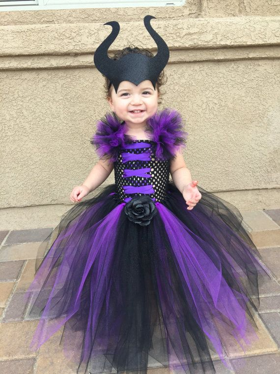 Maleficent Tutu Dress With Horns Disfraces De Halloween Para Niña Disfraces Para Nenas Disfraces Para Niños