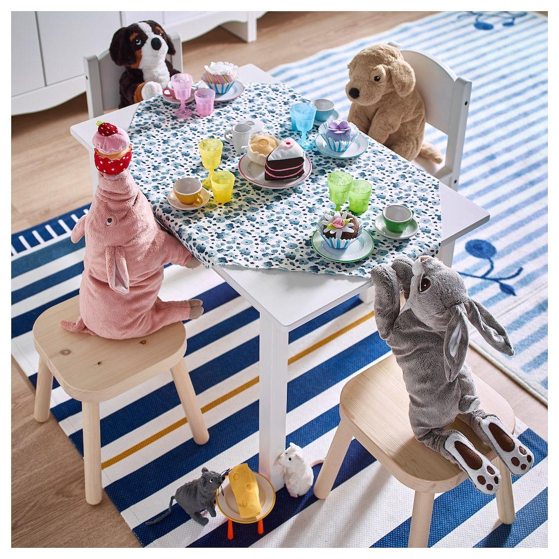 IKEA SUNDVIK White Children's table Kids stool, Ikea