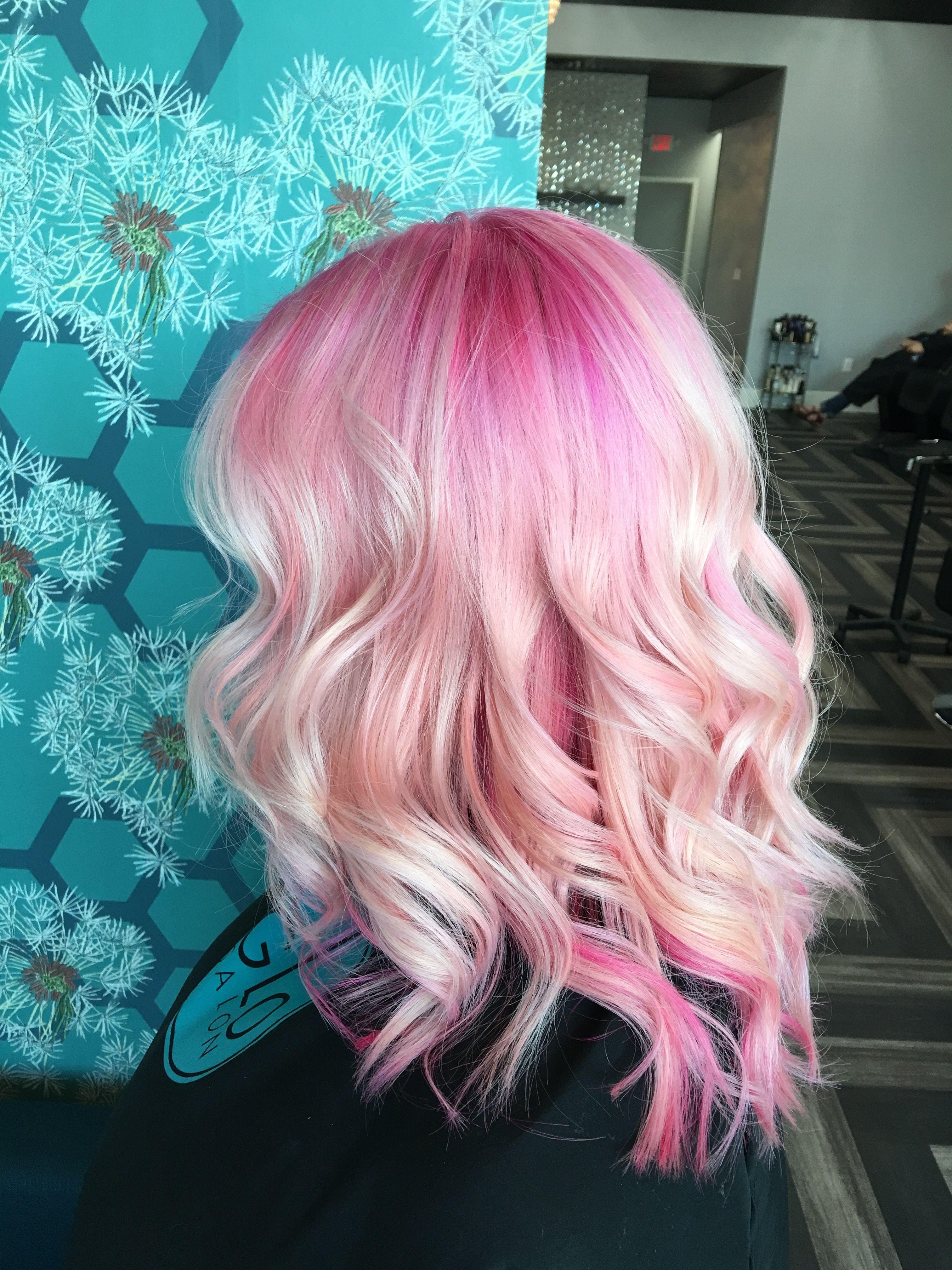 Balayage / Shadow Root / Fashion Tone / Pink Hair / Platinum ...