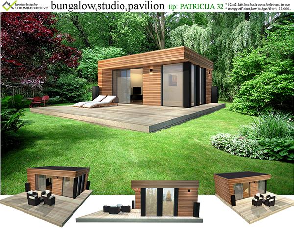 Bungalow Studio Pavilion Small Home On Behance Paviljoen
