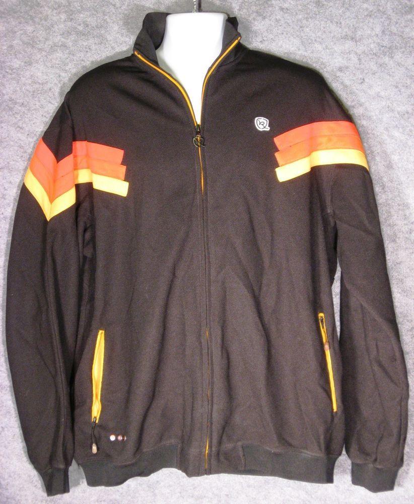 Rocawear Urban Jacket Mens Xl Full Zip Black W Racing Stripe Urban Jacket Jackets Mens Jackets [ 1000 x 822 Pixel ]