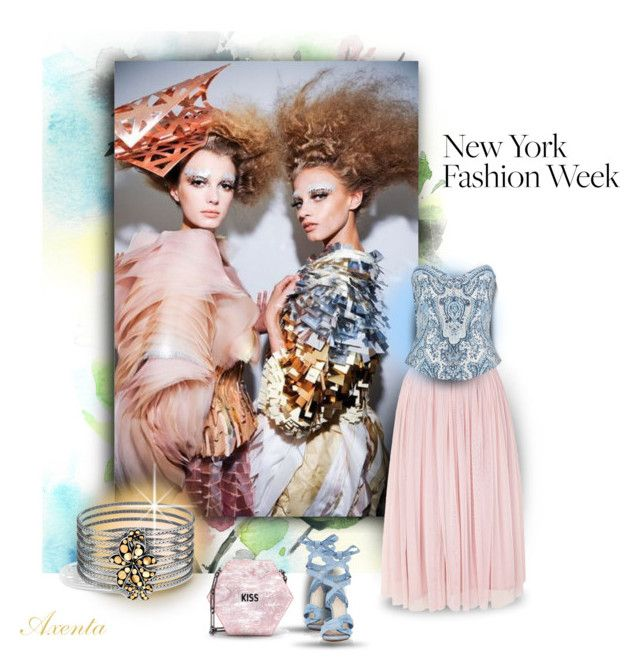 """""""nyfw"""" by axenta ❤ liked on Polyvore featuring WALL, Lace & Beads, Balmain, Altuzarra, Edie Parker, John Hardy, NYFW, look, jewelry and axenta"""