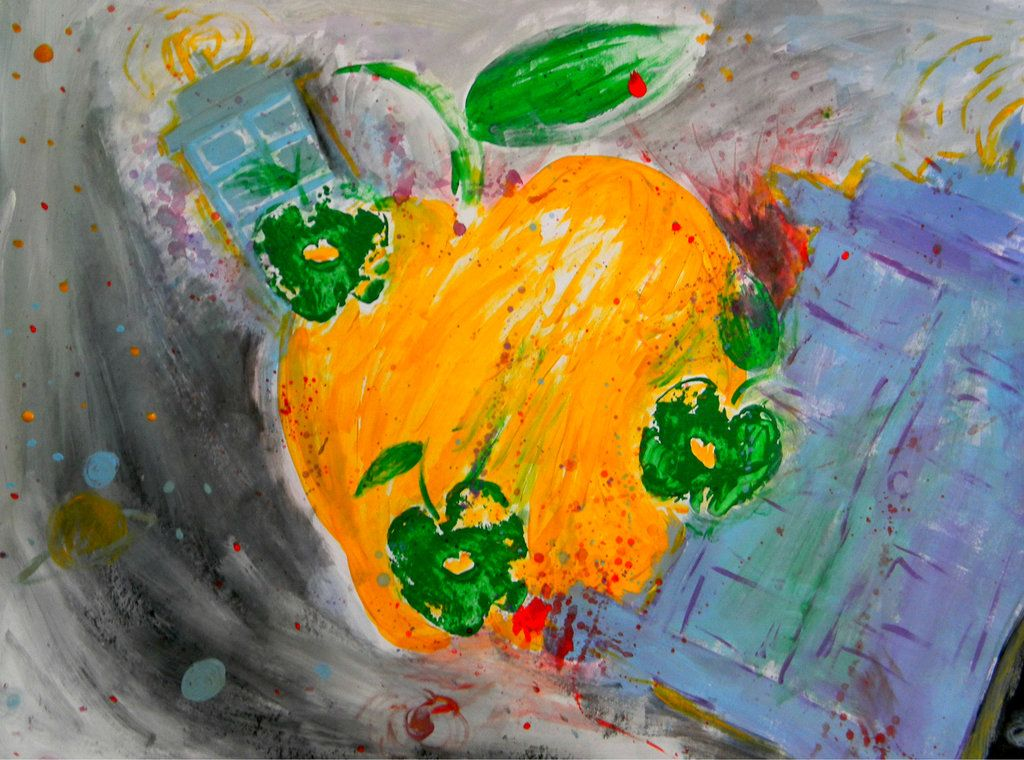 An apple a day brings the doctor this way art painting