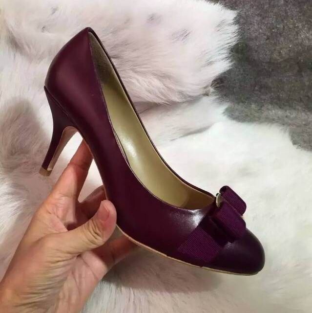 0b28b5e07bf6 Cheap Ferragamo Carla Vara Bow Pumps in lambskin Purple on sale here.  Welcome to shop