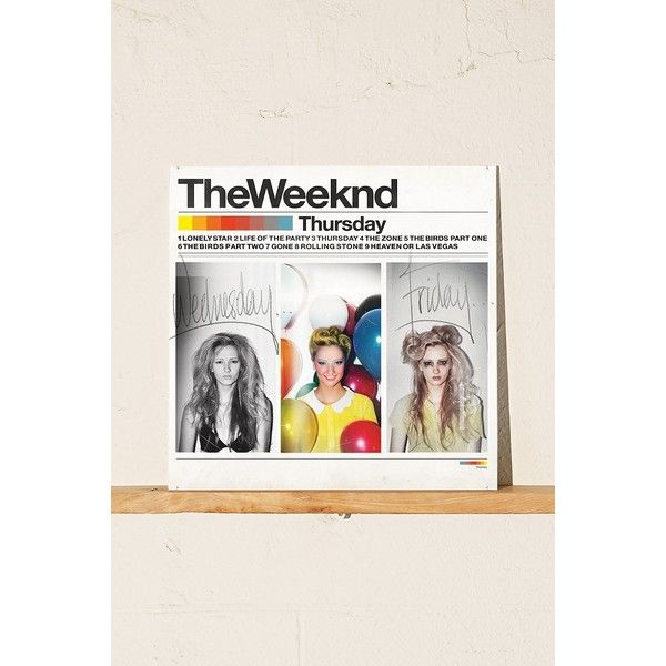 The Weeknd - Thursday LP - Black One Size at Urban Outfitters ($30) ❤ liked on Polyvore featuring black