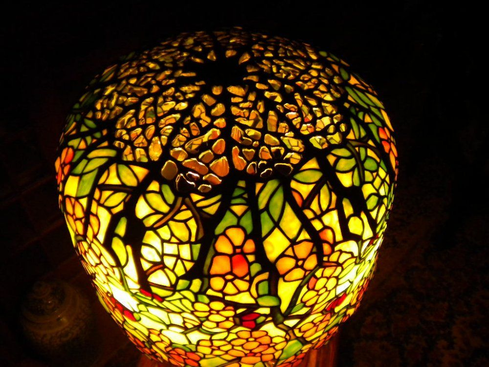cherry blossom lamp by tiffany at central