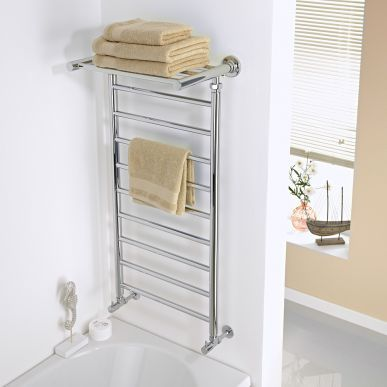 1000mm X 532mm Heated Towel Shelf Radiator Chrome Towel Rail Towel Rack Bathroom Heated Towel Rail