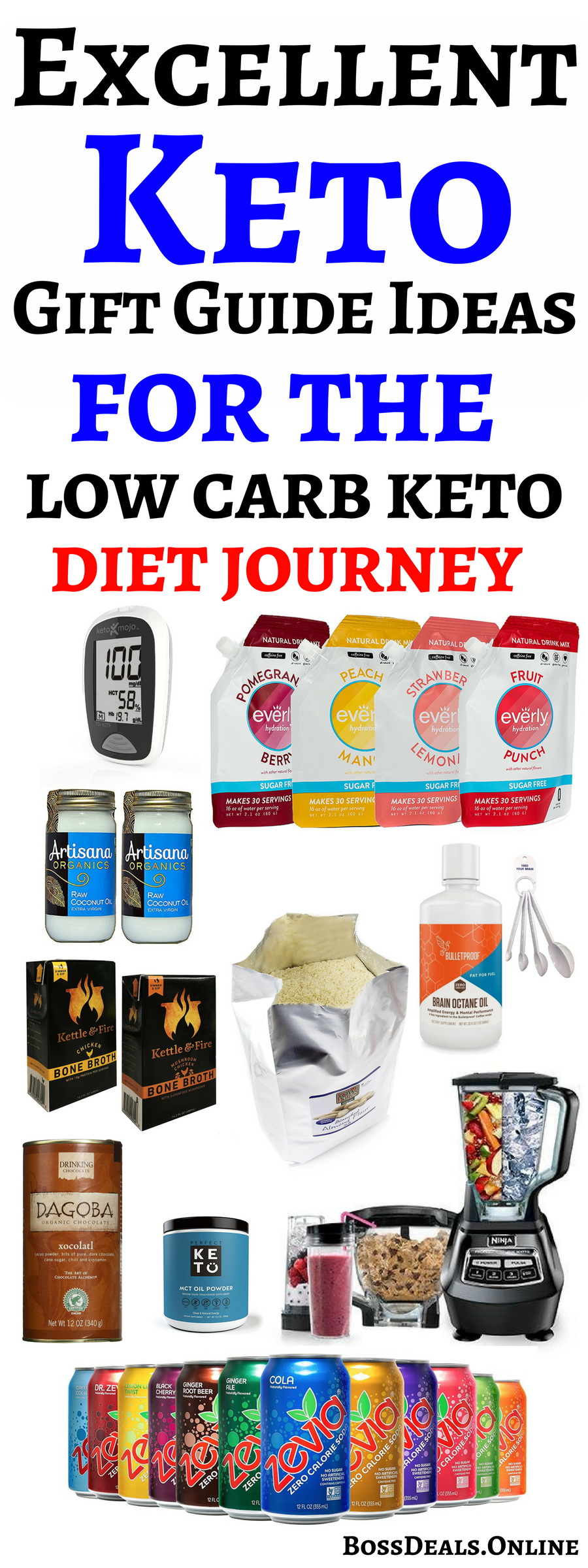 A Keto Gift Guide for you or your friend, for starting the ketogenic diet journey.In this post ...
