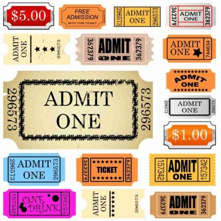 Admit One Ticket Template Free Fascinating Set Of Ticket Admit One  カミモノ  Pinterest  Web Free