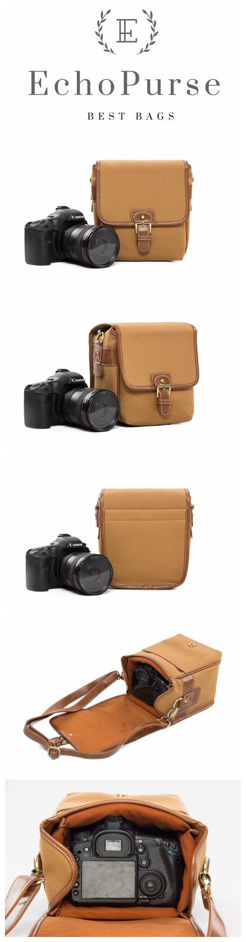 Handmade Leather DSLR Camera Pouch, SLR Camera Purse 1356S #camerapurse