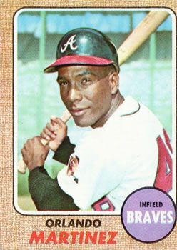 The Trading Card Database 1968 Topps 578 Orlando Martinez Atlanta Braves Braves Trading Card Collection