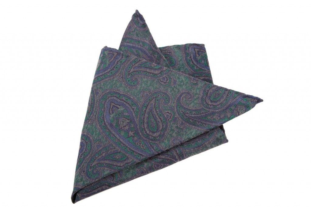 Pañuelo de seda Melànge de amebas de SOLOiO
