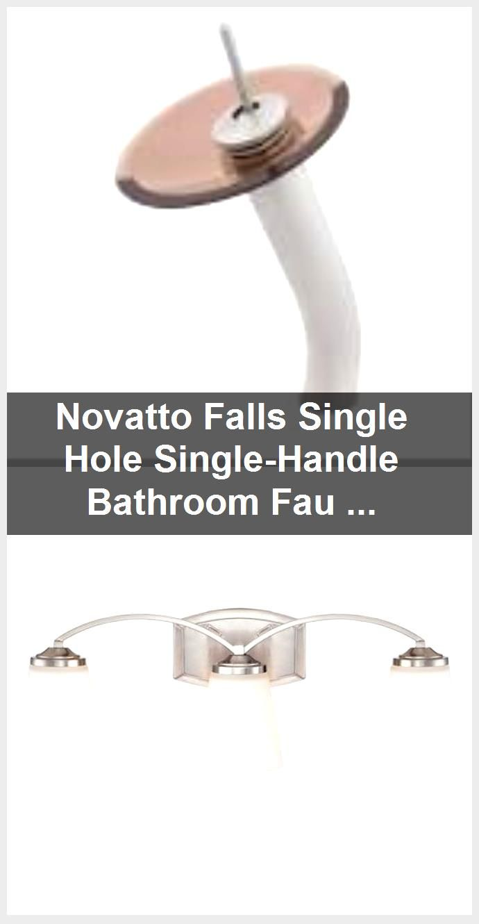 Photo of Novatto Falls Single Hole Single-Handle Bathroom Faucet in Brushed Nickel-GF-001BN-T – The Ho…
