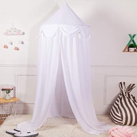 Photo of Conthfut Bed Canopy Girls Lace Mosquito Net Unique Pendant Play Tent Bedding for…