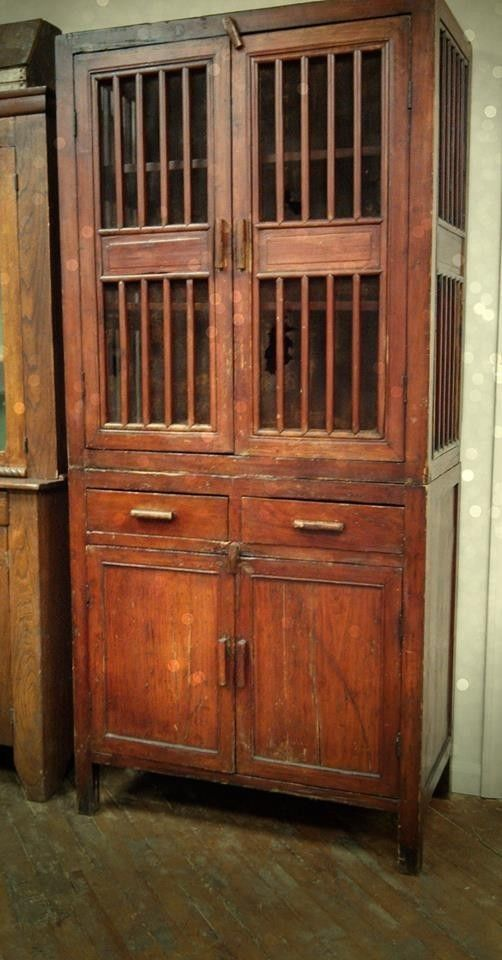 obviously needs refinishing, like the dimension of the front Antique  Primitive Early Large Old Pie Safe with Mesh Cabinet! - Antique Primitive Early Large Old Pie Safe With Mesh Cabinet