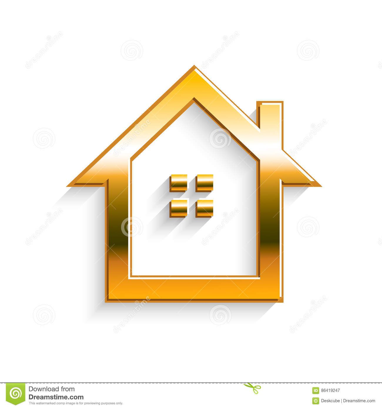 Golden House Real Estate Logo Real Estate Logo Home Logo Vector Design