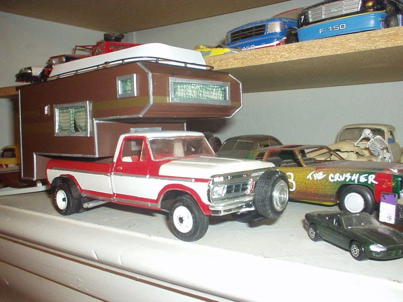76 ford f350 and camper scale auto magazine for building plastic resin scale model cars. Black Bedroom Furniture Sets. Home Design Ideas