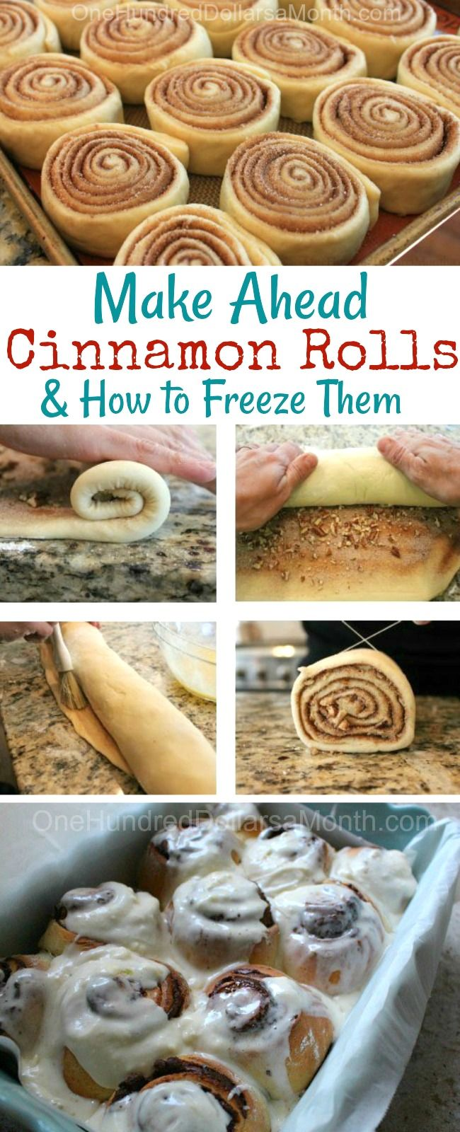 The Best Way to Freeze Cinnamon Rolls + Recipe - One Hundred Dollars a Month